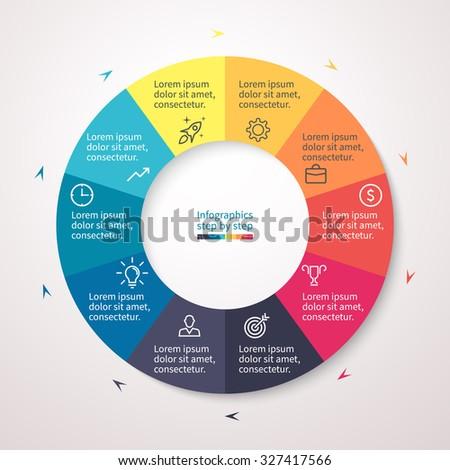 pie chart graph diagram 10 steps のベクター画像素材 ロイヤリティ