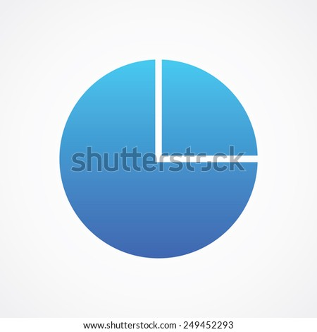 Pie Chart Icon Line Style Type Stock Vector Royalty Free 249452293