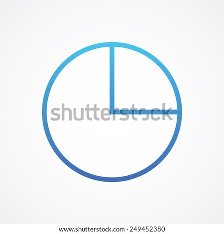 Pie Chart Icon Line Style Type Stock Vector Royalty Free 249452380