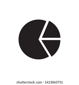 pie chart icon logo vector design template