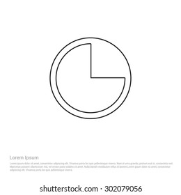 Pie Chart icon - Vector Icon illustration
