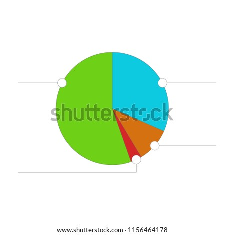 Pie Chart Illustration Diagram Business Statistics Stock Vector