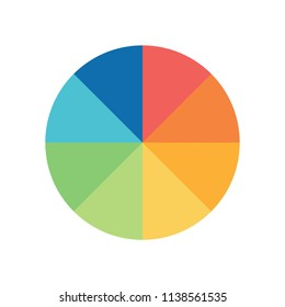 Pie chart infographic circle shape with option process or stp for business presentation