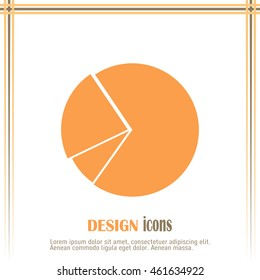 Pie chart infographic element in modern flat design. Eps10 vecto
