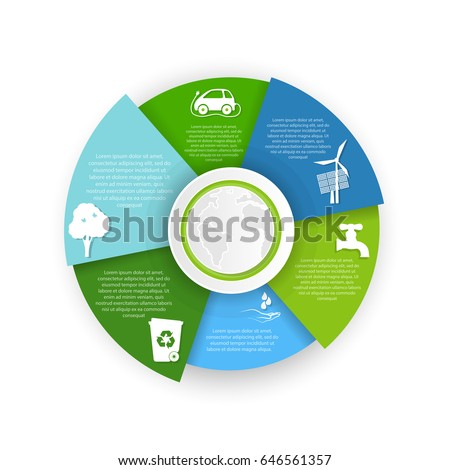 Pie Chart Pollution Environment Stock Vector Royalty Free