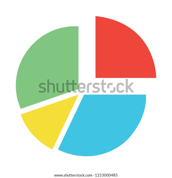 Pie Chart Template Circle Diagram Business Stock Vector