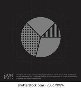 Pie graph icon - Black Creative Background