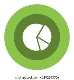 pie graph vector icon