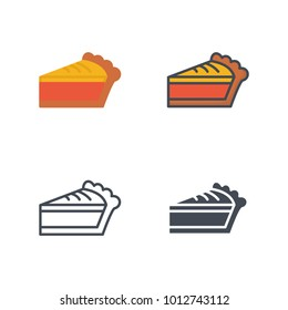 Pie slice vector icon