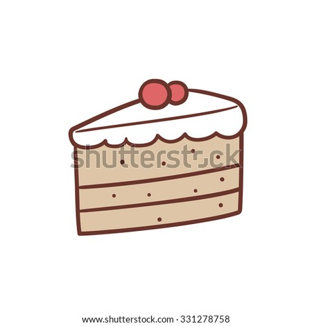 Piece Cake Stock Vector Royalty Free 331278758