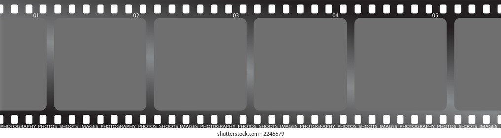 a piece of grey film that can be used as a place holder for your pictures