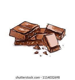 A piece of milk chocolate tile.