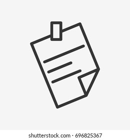 Piece of paper icon illustration isolated vector sign symbol
