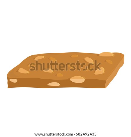 A piece of peanut brittle