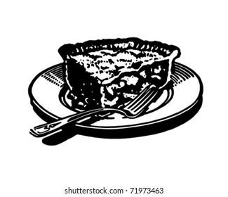 Piece Of Pie 2 - Retro Ad Art Illustration