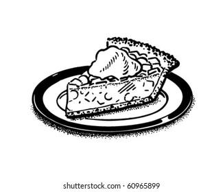Piece Of Pie - Retro Clip Art