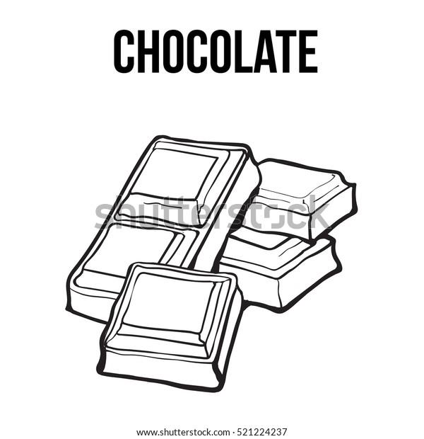 Image Vectorielle De Stock De Morceaux De Barre De Chocolat