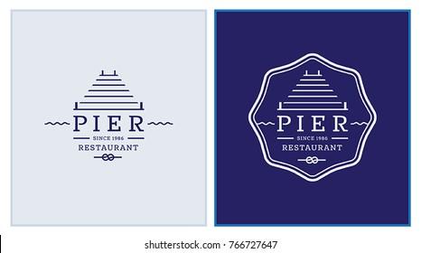 Pier Restaurant Identity Logo