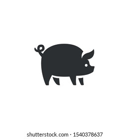 Pig animal icon - Vector
