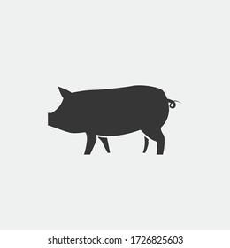 pig animal vector icon pork