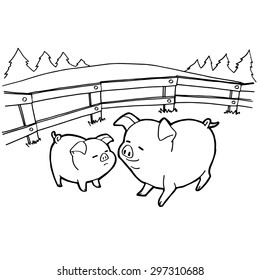 Pig Coloring Page Images, Stock Photos & Vectors | Shutterstock