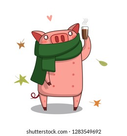 pig and cup