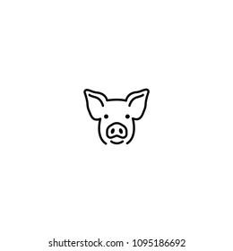 Pig face vector illustration