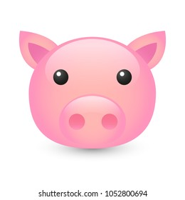 Pig Farm Animals Emoji Illustration Face Vector Design Art