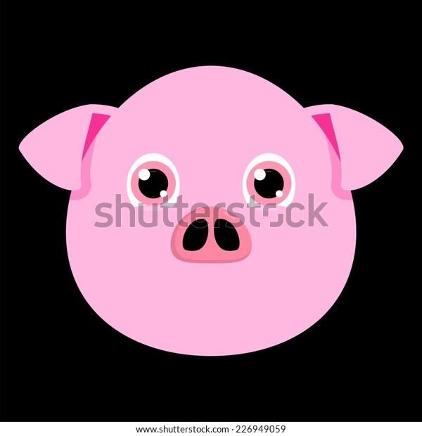 Pig Head Cartoon Stock Vector Royalty Free 226949059