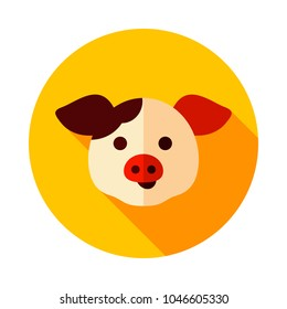 Pig icon. Animal head. Farm sign. Graph symbol for your web site design, logo, app, UI. Vector illustration