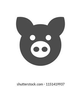 Pig icon. Piggy face. Vector illustration.
