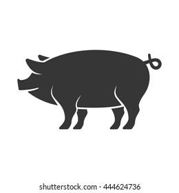 Pig Icon. Vector