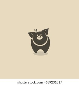 Pig icon - vector illustration