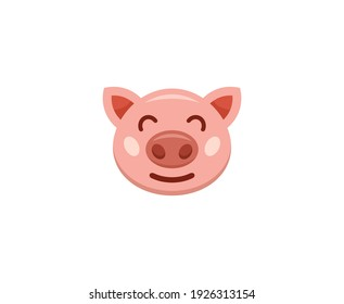 Pig logo cute mascot illustration