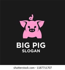 pig logo icon design vector