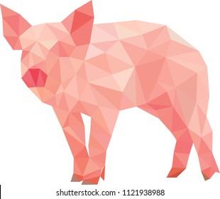 pig polygon art