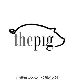 pig pork logo
