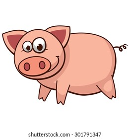 Pig vector art and illustration.