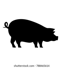 Pig vector pictogram