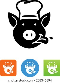 Pig wearing chef's hat icon
