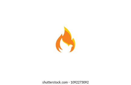 pigeon, fire and religious logo