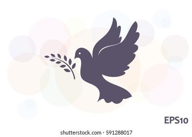 Pigeon Olive Leaf icon vector illustration eps10.