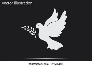 Pigeon Olive Leaf icon vector illustration.