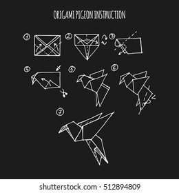 pigeon origami step by step instruction