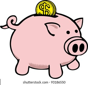 piggy bank clip art images stock photos vectors shutterstock rh shutterstock com piggy bank clipart png piggy bank clip art free