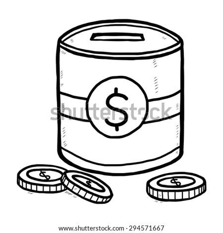 Piggy Bank Coin Cartoon Vector Illustration Stock Vector Royalty
