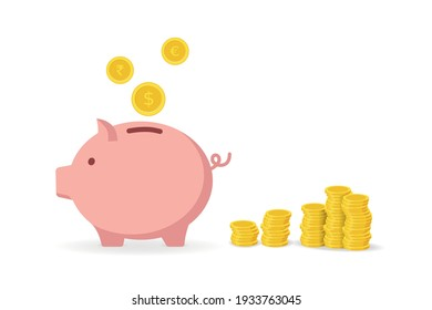 Piggy Bank and Coins - Investment