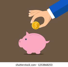 Piggy bank concept for safe investment, finance for protection