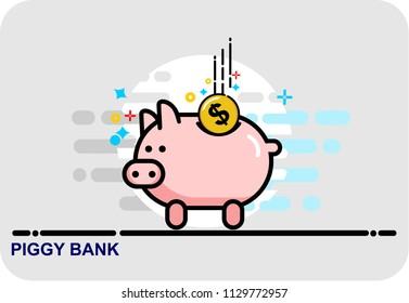 piggy bank, icon