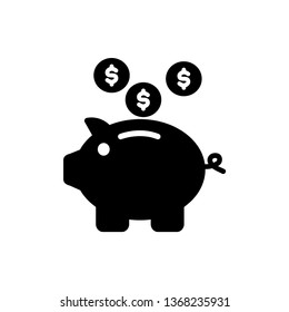 Piggy Bank icon design template. Vector EPS 10